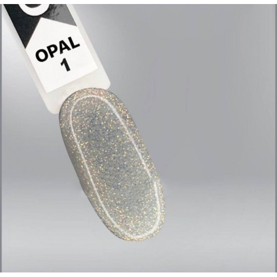 Opal Oxxi 001 gel varnish transparent with micro-shine, 10ml