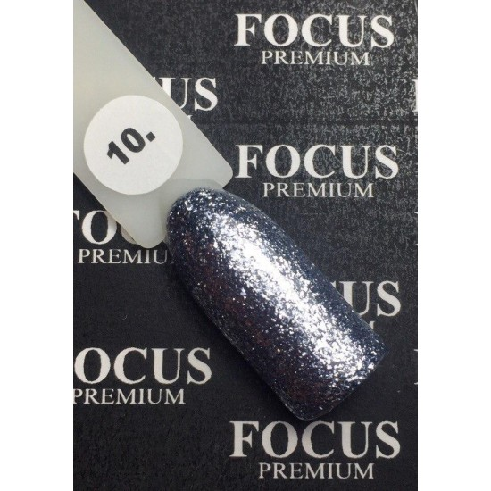 Luxton Titan Gel Lacquer 010 Gray with Sparkles, 10 ml.